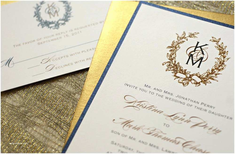 Ivory Wedding Invitations Gold Wedding Invitations