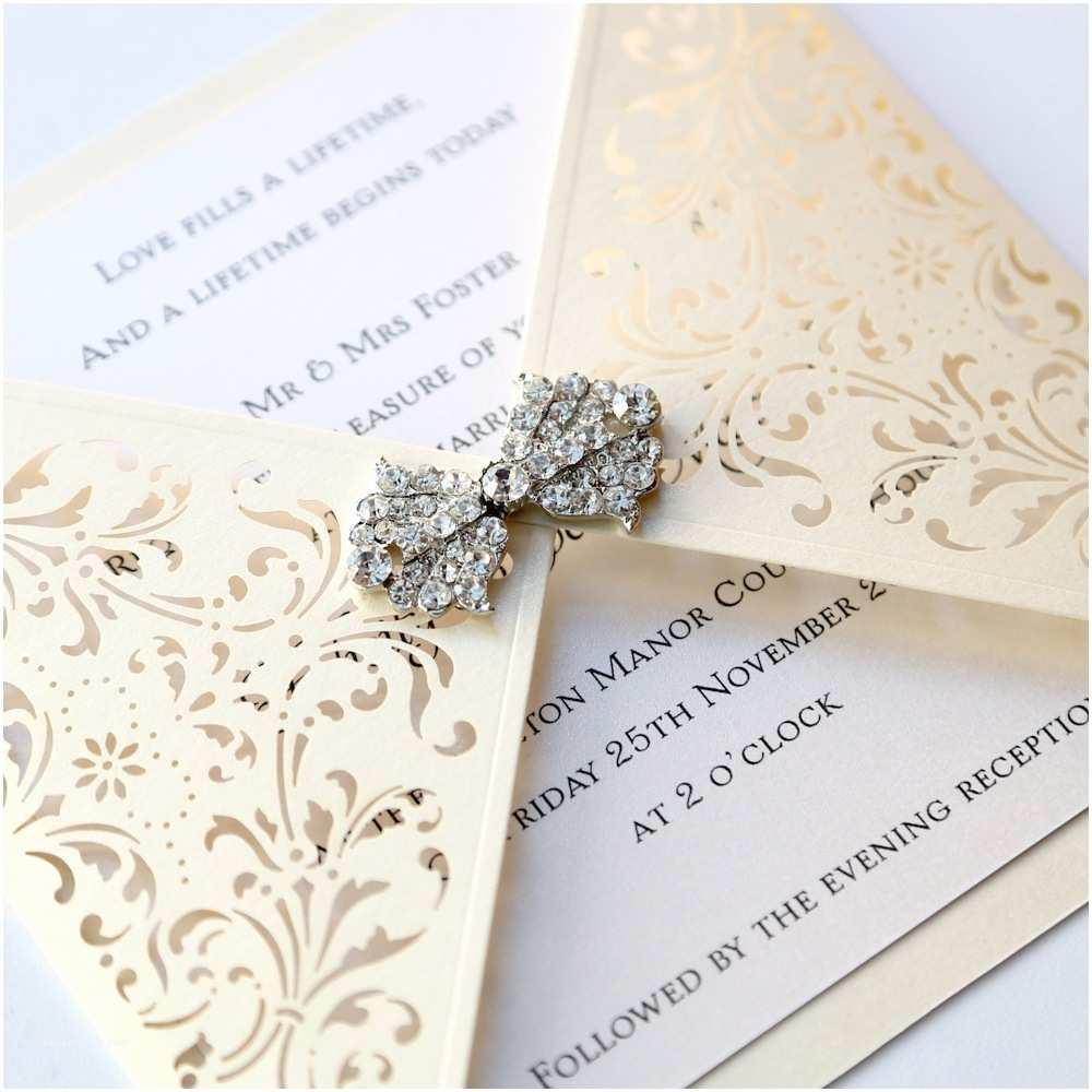 Ivory Wedding Invitations Ivory Gatefold Laser Cut Wedding Invitation Vintage