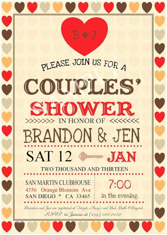 Jack And Jill Baby Shower Invitations Couples Shower Wedding Shower Invitation By