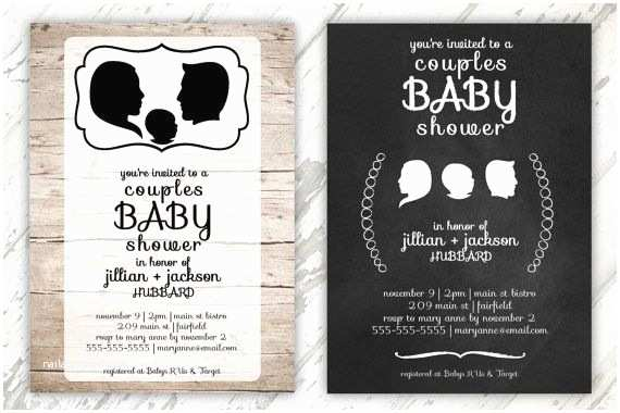 Jack and Jill Baby Shower Invitations Jack & Jill Custom Baby Shower Invitation