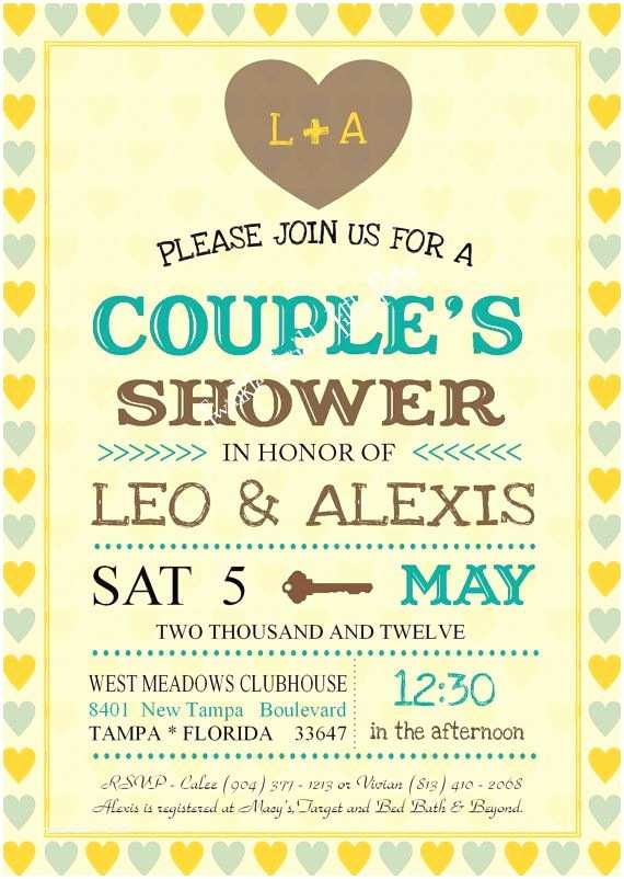 Jack And  Baby Shower Invitations Vintage Wedding Shower Couples Shower Jack And