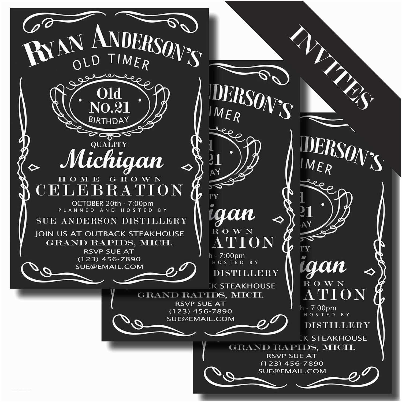 Jack Daniels Wedding Invitations Jack Daniels Birthday Party Centerpiece