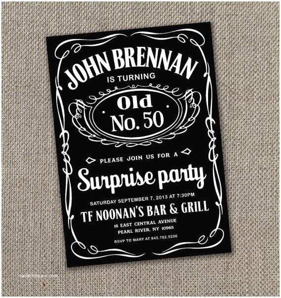 Jack Daniels Wedding Invitations Jack Daniels Printable Invitation 5 X 7 Digital by