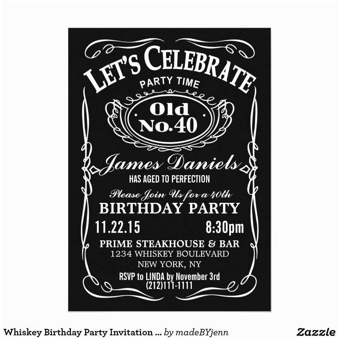 Jack Daniels Wedding Invitations Jack Daniels Whiskey Birthday Party Invitation