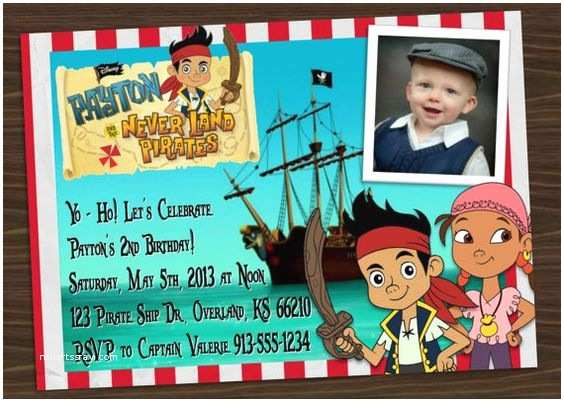 Jake And The Neverland Pirates Birthday Invitations Invitation