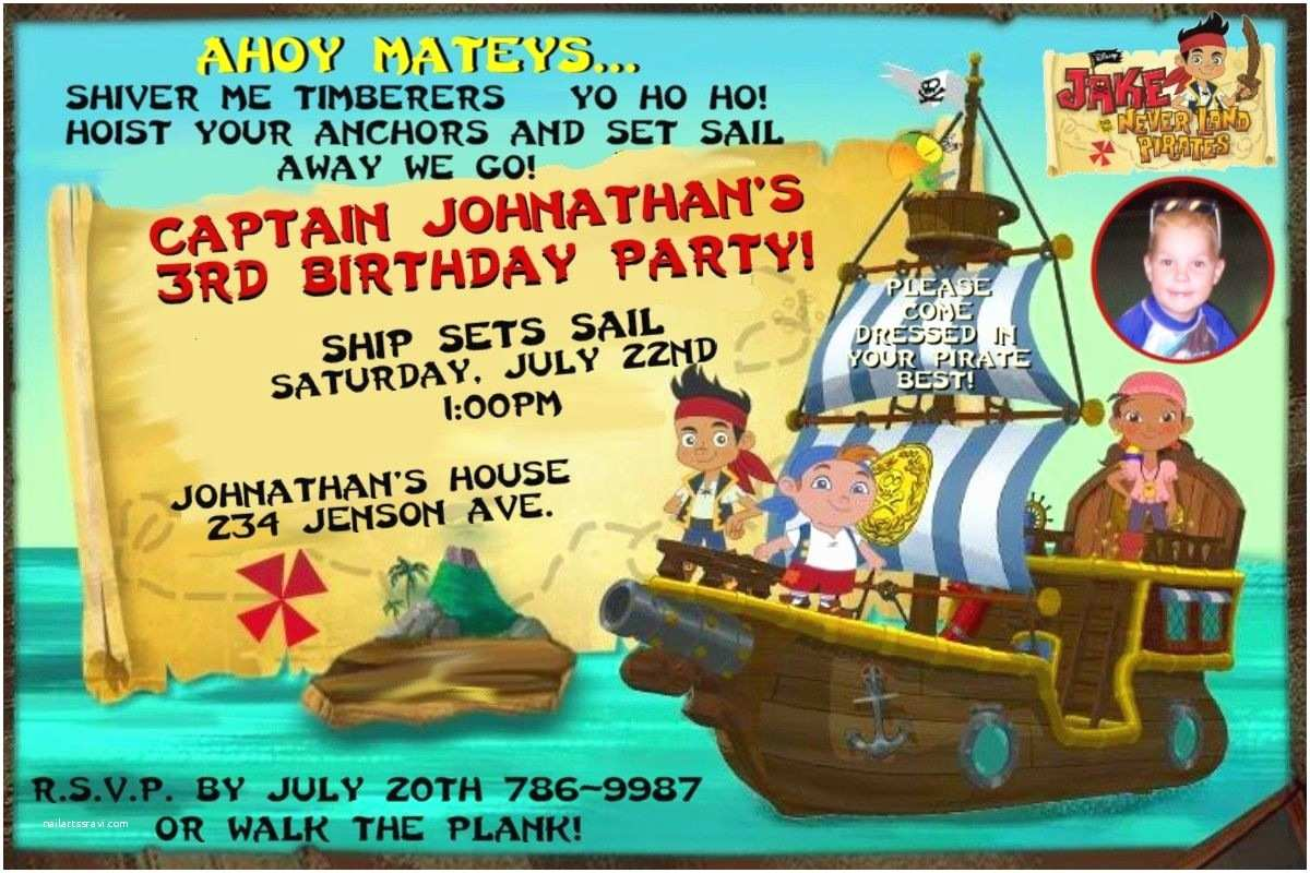Jake and the Neverland Pirates Birthday Invitations Jake and the Neverland Pirates Birthday Party Invitations