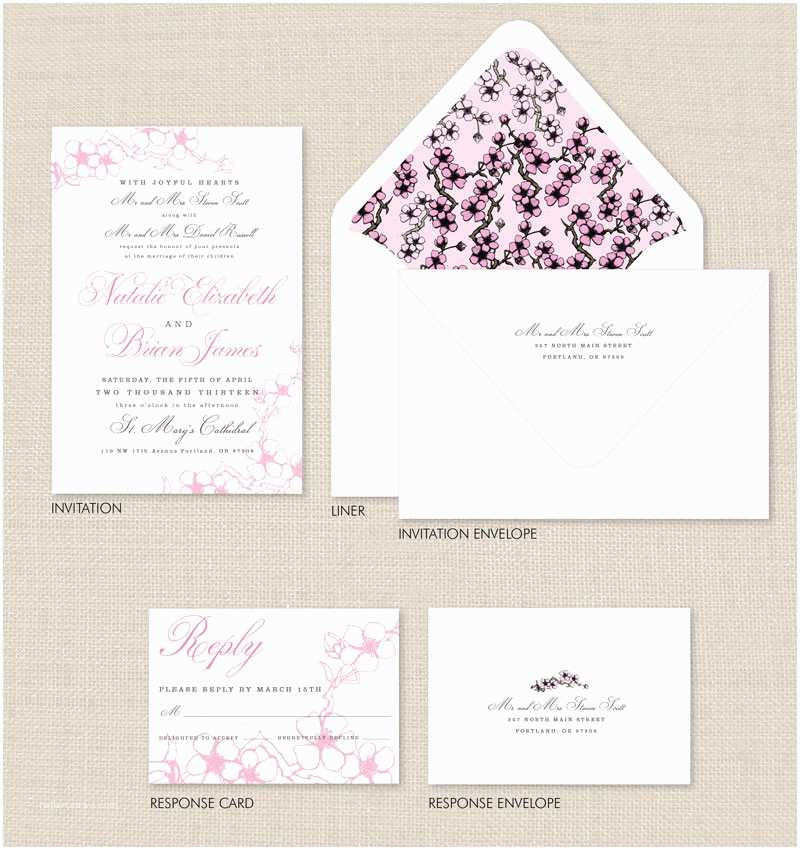 Japanese Cherry Blossom Wedding Invitations Cherry Blossom Wedding Invitations