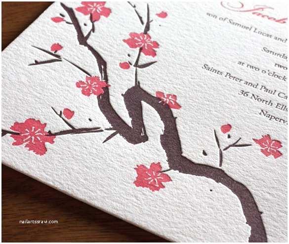Japanese Cherry Blossom Wedding Invitations Cherry Blossom Wedding Invitations
