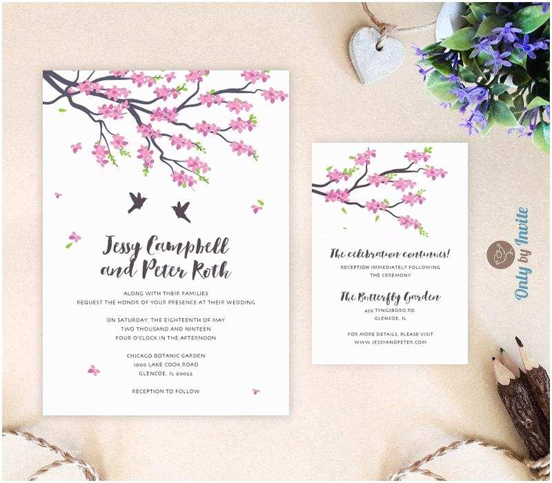 Japanese Cherry Blossom Wedding Invitations Cherry Blossoms Weddi with Japanese Wedding Ideas