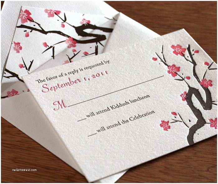 Japanese Cherry Blossom Wedding Invitations Japanese Cherry Blossom Wedding Invitation Invitations by