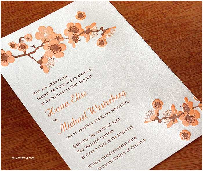 Japanese Cherry Blossom Wedding Invitations New Cherry Blossom Wedding Invitation Hana