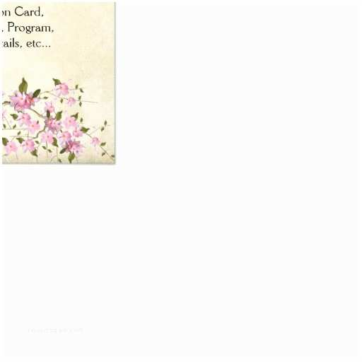 Japanese Cherry Blossom Wedding Invitations Pink Japanese Cherry Blossoms Wedding 3 5x5 Paper