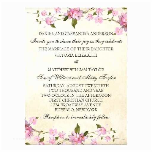 Japanese Cherry Blossom Wedding Invitations Pink Japanese Cherry Blossoms Wedding Personalized