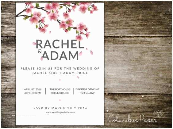 Japanese Cherry Blossom Wedding Invitations This Cherry Blossom Invitation and Envelope Set is A Cost