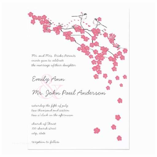 Japanese Cherry Blossom Wedding Invitations Vintage Cherry Blossom Japanese Wedding Invite 13 Cm X 18