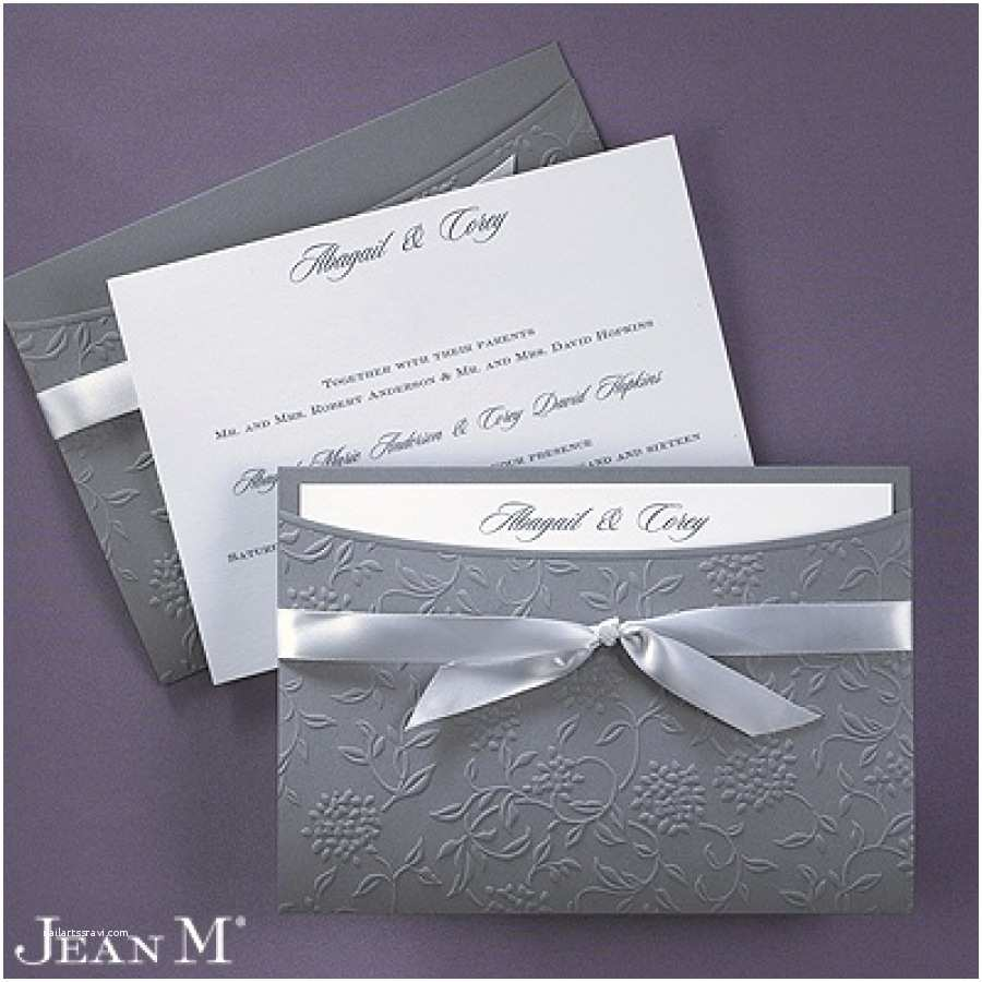 Jean M Wedding Invitations Flowers and Vines Invitation