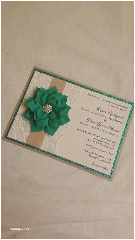 Jean M Wedding Invitations Olive Green and White Custom Pocket Style Wedding