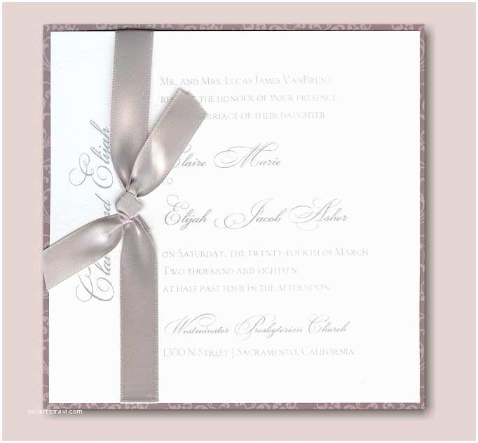 Jean M Wedding Invitations Shells and Swirls Wedding Invitation