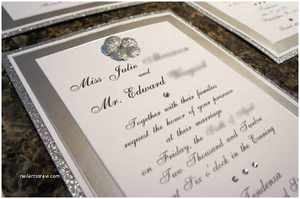 Jeweled Wedding Invitations Bling Bling Diy Invites