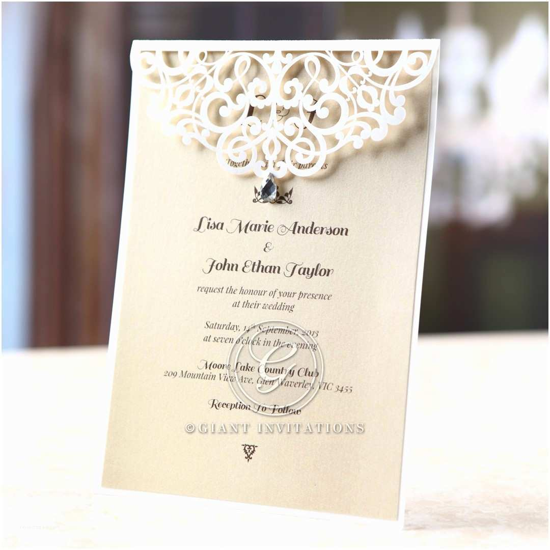 Jeweled Wedding Invitations Bridal Shower Invitations Jeweled Bridal Shower Invitations