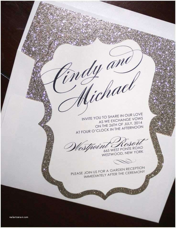 Jeweled Wedding Invitations Elegant Wedding Invitations with Bling