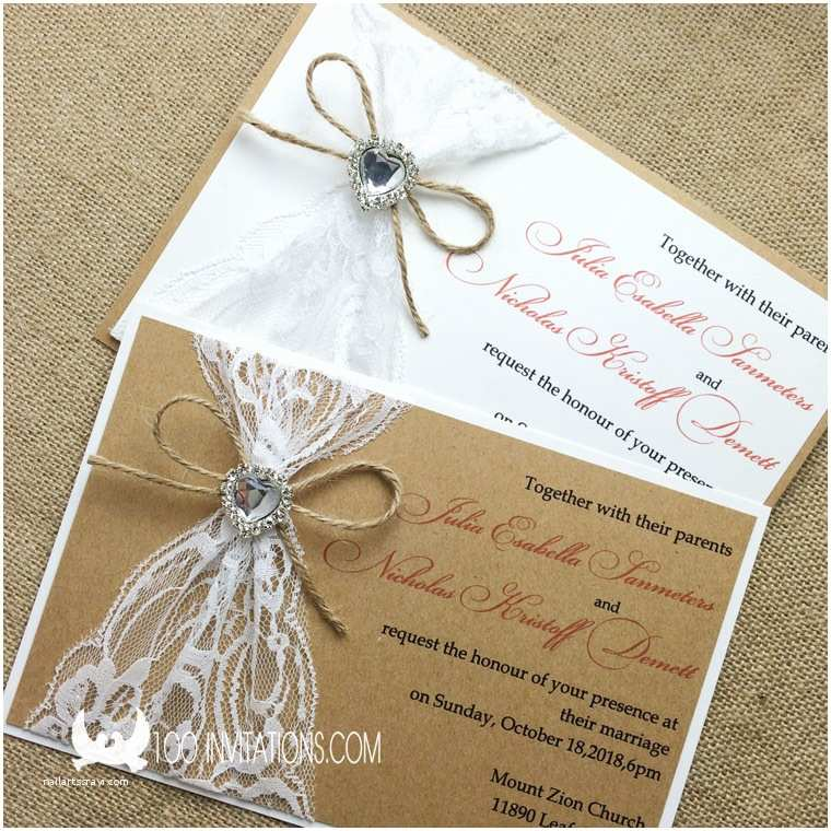 Jeweled Wedding Invitations Lace Wedding Invitations Free Shipping