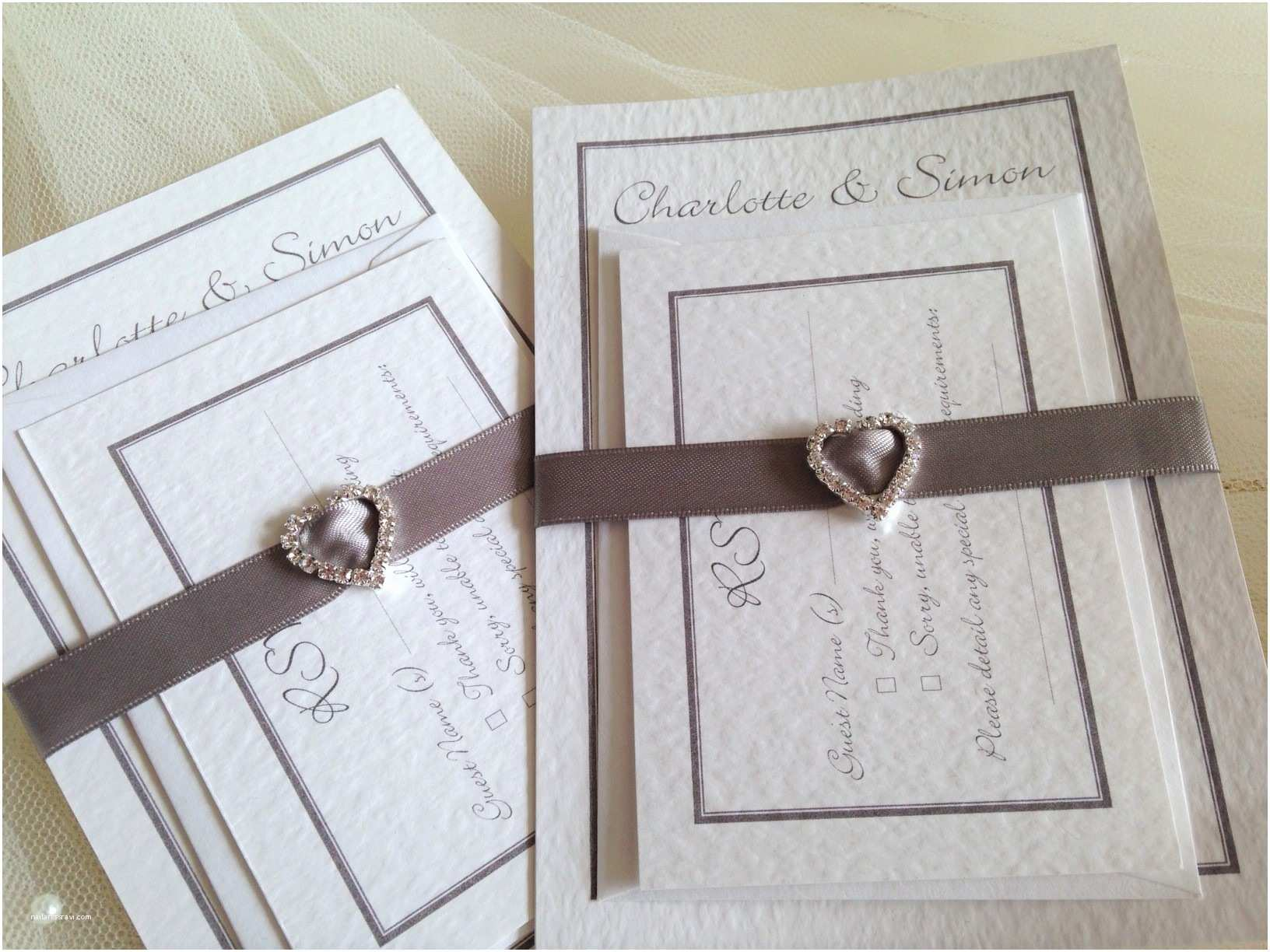 Jeweled Wedding Invitations Rhinestone Buckle Wedding Stationery