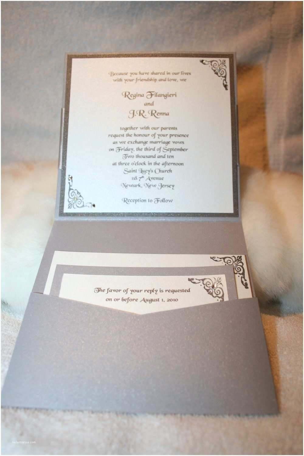 Jeweled Wedding Invitations Rhinestone Wedding Invitations