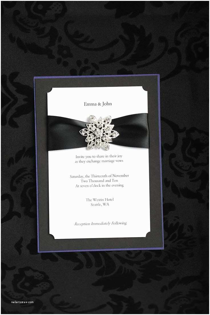 Jeweled Wedding Invitations Snowflake Rhinestone On Custom Wedding Invitation