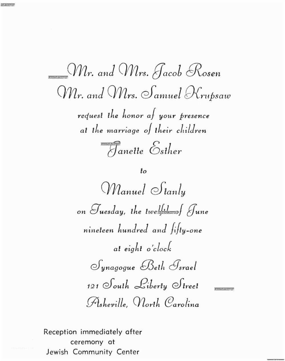 Jewish Wedding Invitation Templates Jewish Wedding Invitation Wording Template