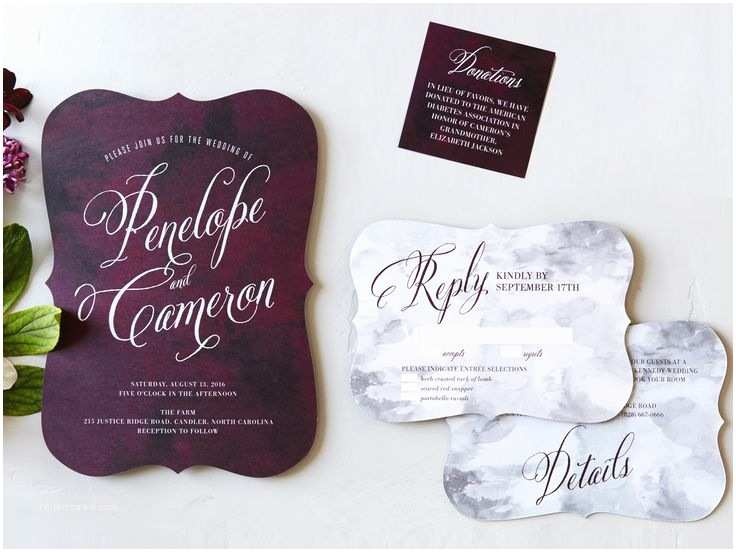 Joann Fabrics Wedding Invitation Kits 17 Best Ideas About Plum Wedding Invitations On Pinterest