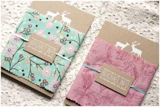 Joann Fabrics Wedding Invitations Rachael Brian S Woodland and Fabric Wedding Invitations