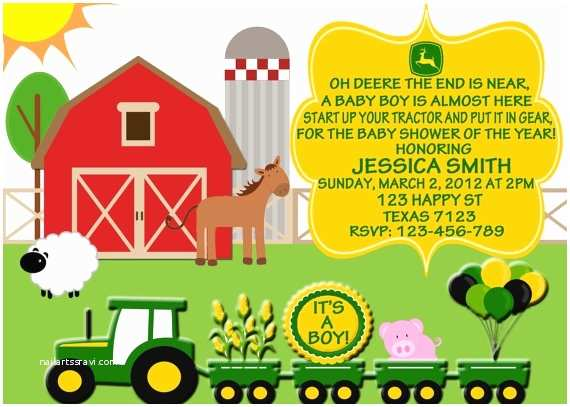 John Deere Baby Shower Invitations 105 Best John Deer Baby Shower Ideas Images On Pinterest