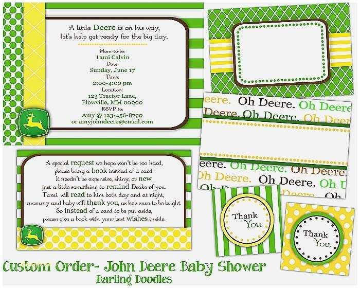 John Deere Baby Shower Invitations Baby Shower Invitation Elegant John Deere Baby Shower