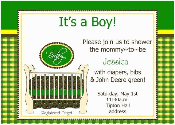 John Deere Baby Shower Invitations Items Similar to John Deere Tractor Bedding Baby Shower