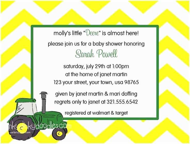 John Deere Baby Shower Invitations John Deere Tractor Baby Shower