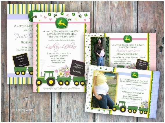John Deere Baby Shower Invitations John Deere Baby Shower Invitation