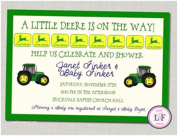 John Deere Baby Shower Invitations John Deere Baby Shower Invitation Printable Baby by