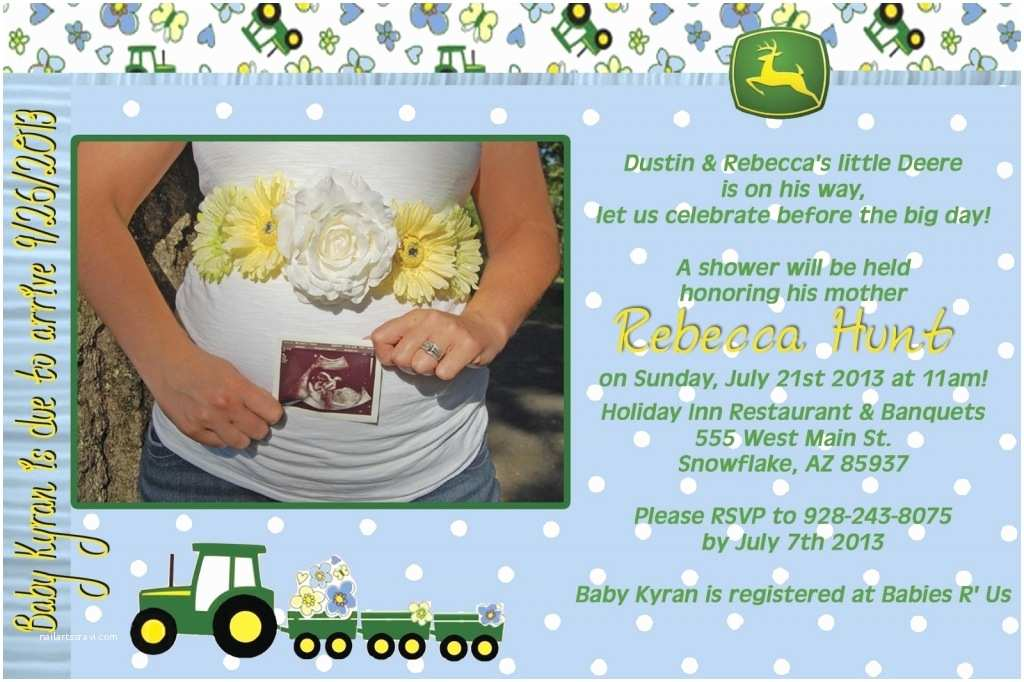 John Deere Baby Shower Invitations John Deere Baby Shower Invitations Invitation Card Gallery