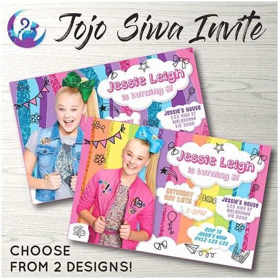 Jojo Siwa Party Invitations Jojo Siwa Invitation Jojo Siwa Invite Jojo Siwa Birthday