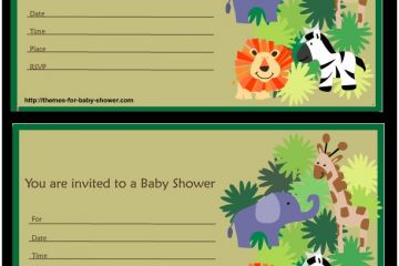 Jungle Theme Baby Shower Invitations 6 Free Printable Safari