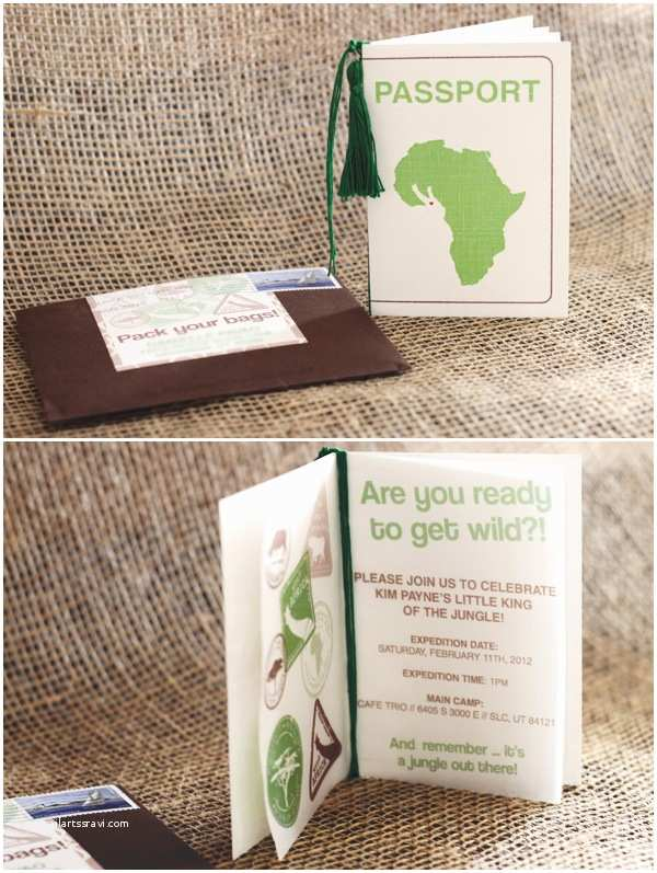 Jungle theme Baby Shower Invitations Wild Jungle Safari themed Baby Shower Hostess with