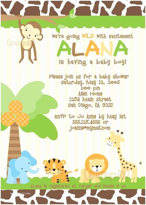 Jungle themed Baby Shower Invitations 176 Best Baby Shower Invites Images On Pinterest
