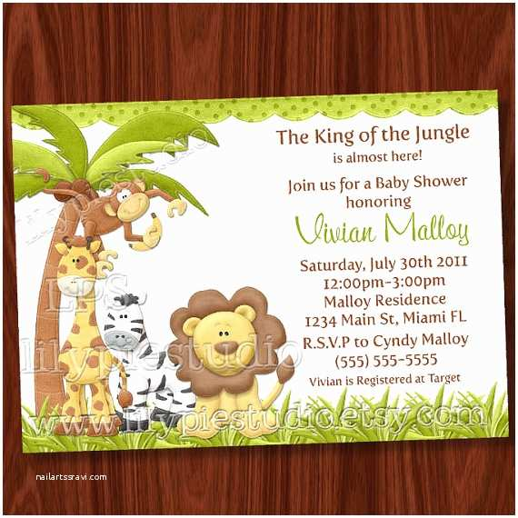 Jungle themed Baby Shower Invitations 8 Best Of Jungle theme Invitations Free Printable