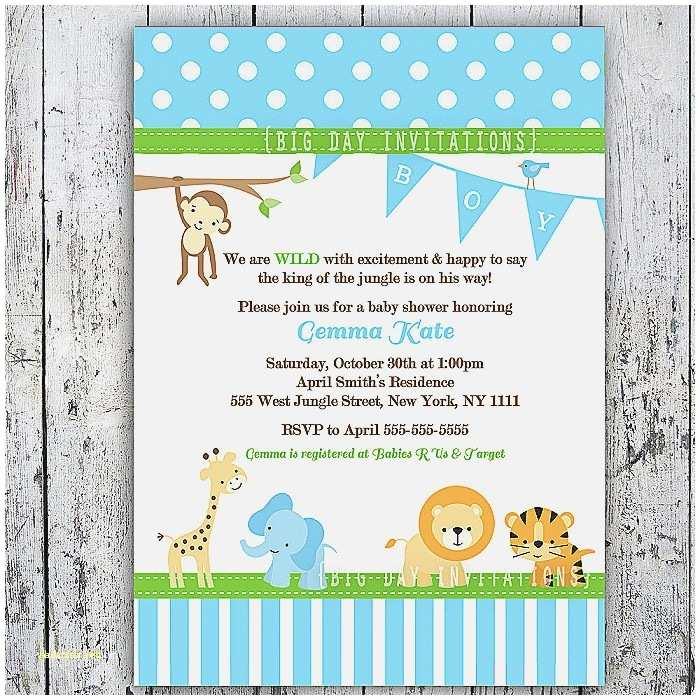 Jungle themed Baby Shower Invitations Baby Shower Invitation Beautiful Free Printable Jungle