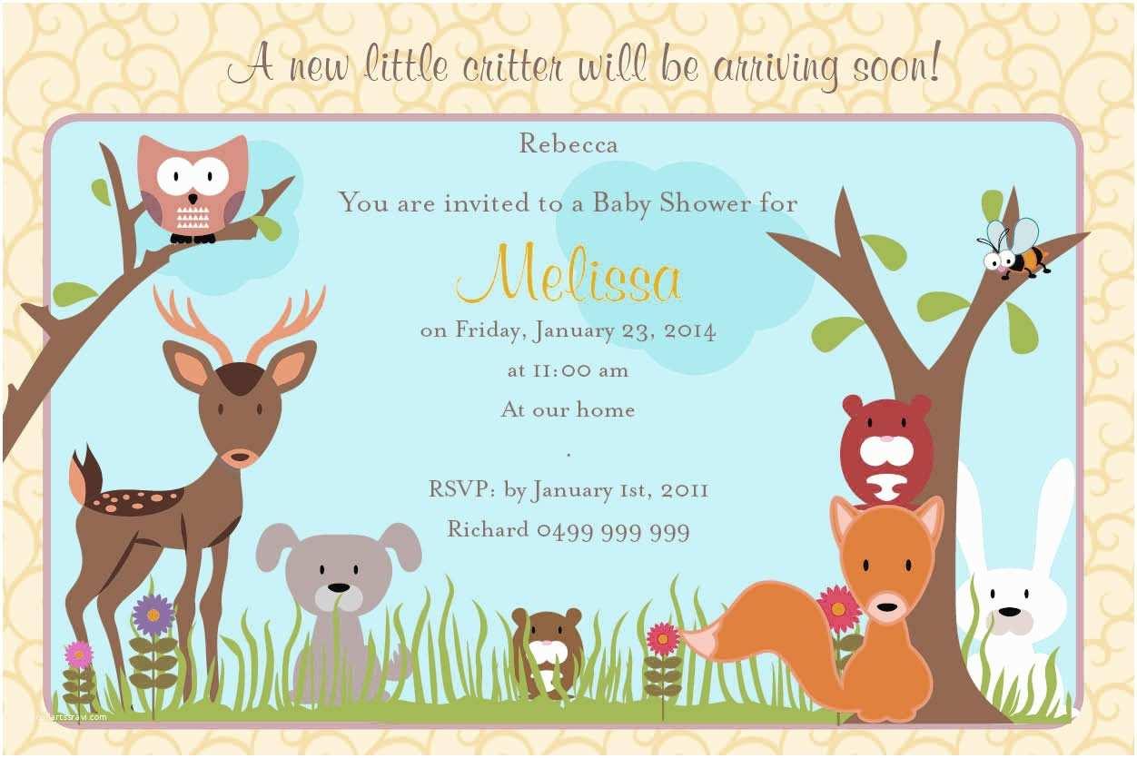 Jungle themed Baby Shower Invitations Design Jungle theme Baby Shower Invitations Printable