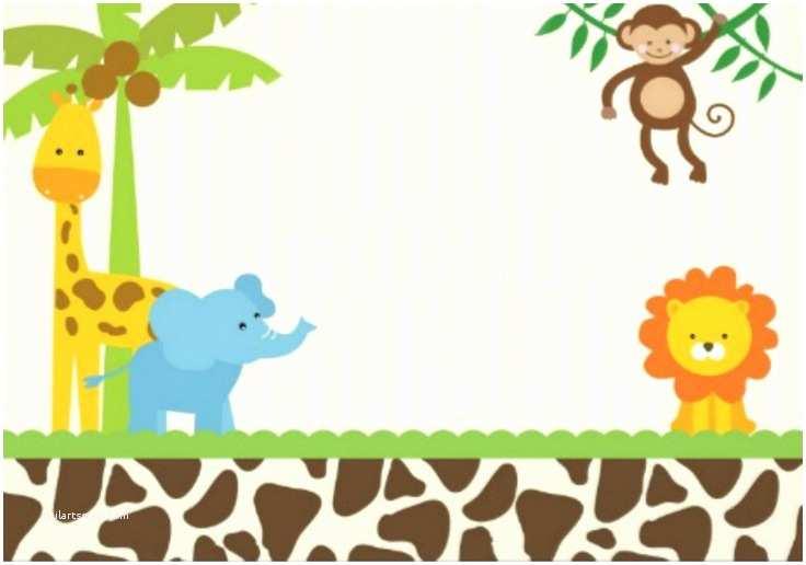Jungle themed Baby Shower Invitations Jungle Invitation Template Invitation Template