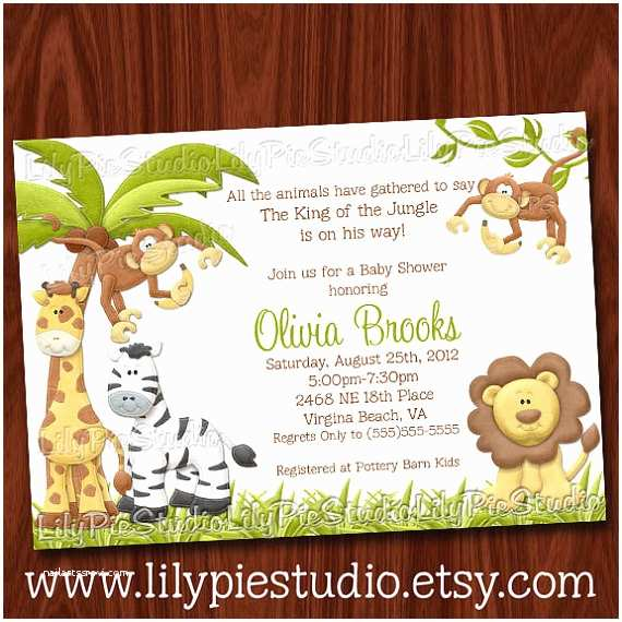 Jungle themed Baby Shower Invitations King Of the Jungle Baby Shower Invitation Printable
