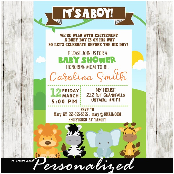 Jungle themed Baby Shower Invitations Safari theme Baby Shower Archives Cupcakemakeover