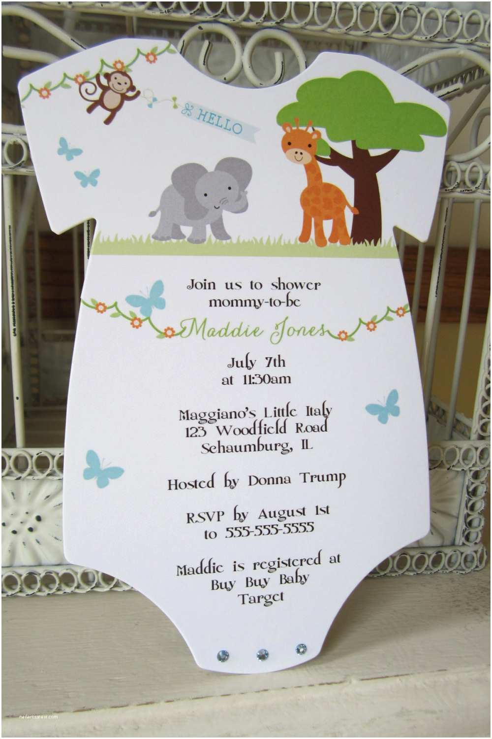 Jungle themed Baby Shower Invitations the original Zoo or Jungle theme Baby Shower Invitation